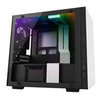 NZXT H200i RGB Tempered Glass mini-ITX Mini-Tower Computer Case - Matte White
