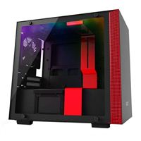 NZXT H200i RGB mini-ITX Mini-Tower Computer Case - Black/Red