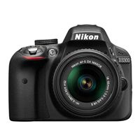Nikon D3300 Digital SLR Camera 24.2 Megapixel 18-55mm VR Lens Kit - Refurbished
