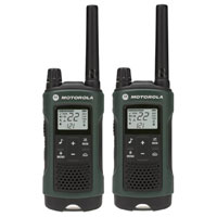 Motorola Talkabout Go Adventure T465 Two-Way Radios w/ Case - Green