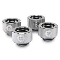 "EK G 1/4"" Straight Compression Fitting 4 Pack - Nickel"