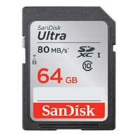 SanDisk 64GB Class 10 Ultra SDHC