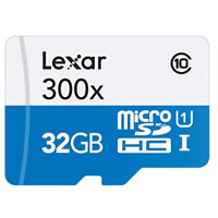 Lexar Media 32GB High Performance 300x microSDHC UHS-I Memory Card with SD Adapter