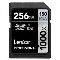 Lexar Media 256GB Professional 1000x UHS-II SDXC Memory Card