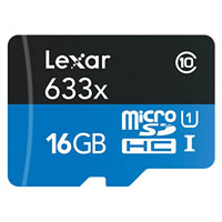 Lexar Media 16GB High-Performance microSDHC Memory Card
