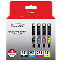 Canon CLI-251 4 Color Ink Pack