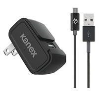 Kanex Wall Charger 2.4A w/ Micro USB Cable 4 ft. - Black