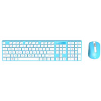 Azio Hue 2 Wireless Keyboard and Mouse - Blue