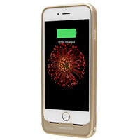 LifeCharge iBatteryCase Charger Case for Apple iPhone 6, 6s - Gold