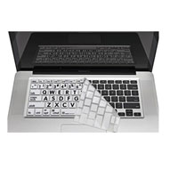 Logickeyboard XLPrint LogicSkin Keyboard Cover For MacBook - Black/White