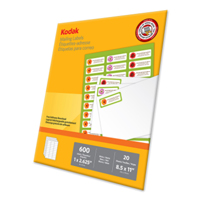 "Kodak Mailing Labels (8.5 x 11"", 20 Sheets)"