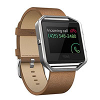 FitBit Small Leather Band for Blaze Smartwatch - Camel