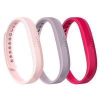 FitBit Large Classic Band Triple Pack for Flex 2 Fitness Tracker - Pink