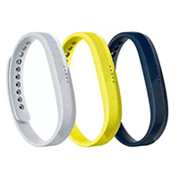 FitBit Small Classic Band Triple Pack for Flex 2 Fitness Tracker - Sport