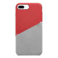 Decoded Leather Snap-On Case for iPhone 7 Plus - Red/Gray