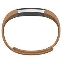FitBit Large Leather Band for Alta Fitness Tracker - Camel