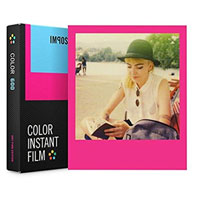 Impossible Color Instant Film with Hot Pink Frame for Polaroid 600 - 8 Pack