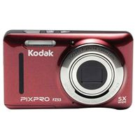 Kodak PIXPRO FZ53 16.1 Megapixel 28mm Wide Angle Lens Digital Camera - Red