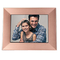 "Nixplay Iris 8"" LCD Wi-Fi Digital Photo Frame - Peach Copper"