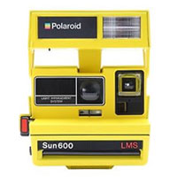 Impossible Polaroid Refurbished 600 Square Instant Camera - Bright Yellow