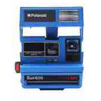 Impossible Polaroid Refurbished 600 Square Instant Camera - Blue