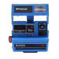 Impossible Polaroid Refurbished 600 Square Instant Camera - Blue