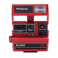 Impossible Polaroid Refurbished 600 Square Instant Camera - Bright Red