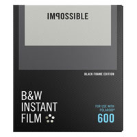 Impossible Black and White Instant Film with Black Frames for Polaroid 600 - 8 Pack