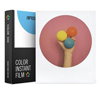 Impossible Color Instant Film with Round Frame for Polaroid 600 - 8 Pack