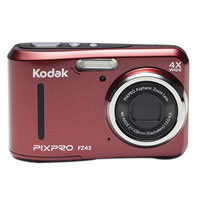 Kodak PIXPRO FZ43 16.2 Megapixel Compact Digital Camera - Red