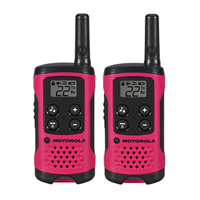 Motorola Talkabout T107 Two-Way Radios - Neon Pink