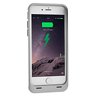 Spyder Digital Battery Case for iPhone 6/6S - Silver