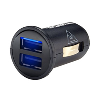 Hama 2.4 Amp Dual Port USB Car Charger w/ Smart Light Technology