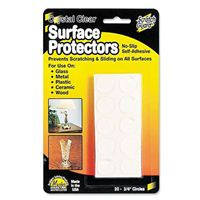 "Master Caster Surface Protectors, Clear, 3/4"" dia. - 20 pk"