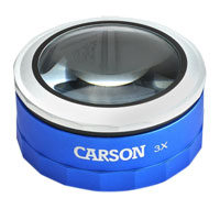 Carson Optical MagniTouch 3X Magnification LED Loupe
