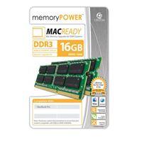 Centon Mac Ready 16GB DDR3-1600 (PC3-12800) CL11 SODIMM Laptop Kit (Two 8GB Apple Memory Modules)