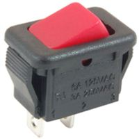 NTE Electronics Rocker Micro Snap-In Nylon SPST 6A 125VAC Switch - Red