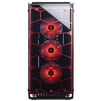 Corsair Crystal 570X RGB ATX Mid-Tower Computer Case Refurbished - Red