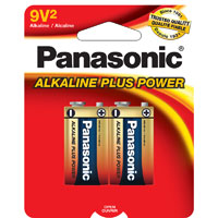 Panasonic Energy of America Alkaline Plus 9V 2pk.