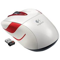 Logitech Wireless Mouse Refurbished - White/Red