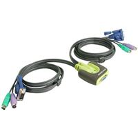 IOGear MiniView Micro PS/2 KVM Switch w/ Integrated Cables - Refurbished