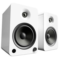 Kanto Living YU6 2-Way Powered Bookshelf Speakers - Ice
