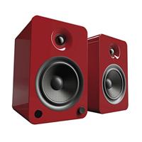 Kanto Living YU6 2-Way Powered Bookshelf Speakers - Crimson