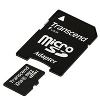 Transcend 32GB microSDHC Flash Card with Adapter Model
