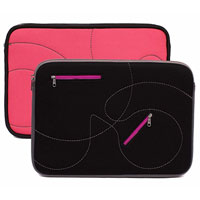 "Looptworks Reversible Hoptu Laptop Sleeve Fits Screens up to 13"" - Black/ Pink"