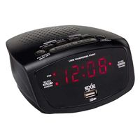 Westclox Dual Alarm Clock Radio w/ 1A USB charging Port