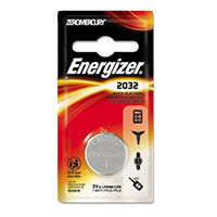 Energizer CR2032 3.0 V Lithium Coin Cell Battery