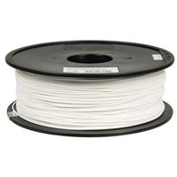 Inland 1.75mm White PETG 3D Printer Filament - 1kg Spool (2.2 lbs)