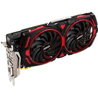 MSI Armor Mk 2 Radeon RX-580 Overclocked Dual-Fan 8GB GDDR5 PCIe Video Card