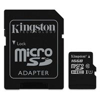 Kingston Canvas Select 16GB microSDHC Class 10 Flash Memory Card with Adapter